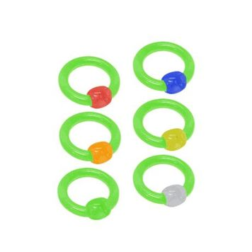 UV Acrylic Captive Bead Ring (6G)