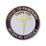 1-1/4 INCH MEDICAL HEROES COVID-19 PANDEMIC THANK YOU LAPEL PIN