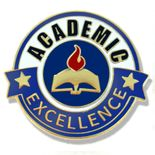 1 INCH DIAMETER ACADEMIC EXCELLENCE LAPEL PIN
