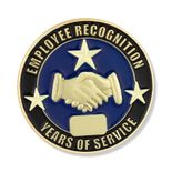 1 INCH EMPLOYEE RECOGNITION YEARS OF SERVICE LAPEL PIN
