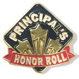 1 INCH HEIGHT PRINCIPAL'S HONOR ROLL LAPEL PIN