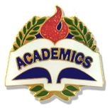 1 X 1 INCH ACADEMICS LAPEL PIN