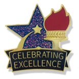 1 X 1 INCH CELEBRATING EXCELLENCE LAPEL PIN