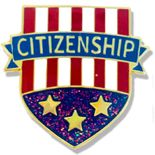 1 X 3/4 INCH CITIZENSHIP LAPEL PIN