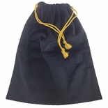 11-1/2 X 14-1/2 INCH BLACK VELVET DRAWSTRING BAG