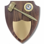 11 x 13 INCH DEPARTMENT OF JUSTICE GAVEL PLAQUE SHIELD WITH DOJ MEDALLION