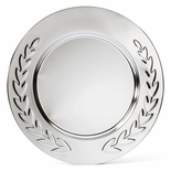 12 INCH CHROME PLATE EMBOSSED WREATH TRAY