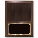 12 X 15 INCH PHOTO PLAQUE WALNUT FINISH SLIDE IN 8X10 PHOTO
