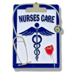 3/4 X 1 INCH NURSES CARE LAPEL PIN