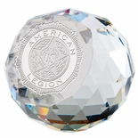 3 INCH OPTICAL CRYSTAL ROUND PAPERWEIGHT AWARD