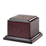5-3/4 X 5-3/4 X 1 INCH HIGH GLOSS ROSEWOOD PIANO FINISH BASE