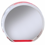 5 x 1 ROUND ACRYLIC RED REFLECTIVE MIRROR BASE AWARD