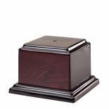 5 X 5 X 1 INCH HIGH GLOSS ROSEWOOD PIANO FINISH BASE