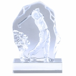6-3/4 INCH SCULPTED MALE GOLF GLASS AWARD