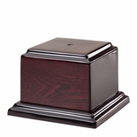 6-3/4 X 6-3/4 X 1 INCH HIGH GLOSS ROSEWOOD PIANO FINISH BASE