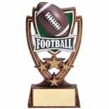 6 INCH PLASTIC MOLDED FOOTBALL TROPHY