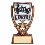 6 INCH PLASTIC MOLDED MUSIC TROPHY