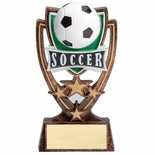 6 INCH PLASTIC MOLDED SOCCER TROPHY