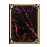 6 X 8 RED MARBLEIZED BRASS PLATED STEEL WITH GOLD FROSTED BORDER