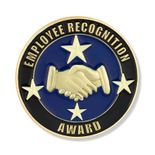 7/8 INCH EMPLOYEE RECOGNITION AWARD LAPEL PIN