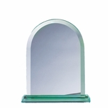 7 INCH ARCHED SHAPE JADE GLASS AWARD