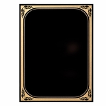 7 X 10 BLACK MARBLEIZED BRASS PLATED STEEL WITH GOLD FROSTED BORDER