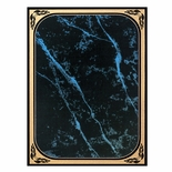 7 X 10 BLUE MARBLEIZED BRASS PLATED STEEL WITH GOLD FROSTED BORDER