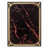 7 X 10 RED MARBLEIZED BRASS PLATED STEEL WITH GOLD FROSTED BORDER