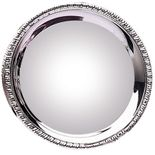 8 IN GADROON TRAY NICKEL PLATED TARNISH PROOF ENGRAVABLE