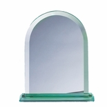 8 INCH ARCHED SHAPE JADE GLASS AWARD