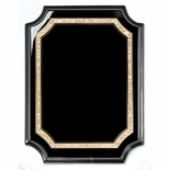 8 x 10 BLACK AND GOLD GLITTER TRIM BLACK PIANO FINISH PLAQUE