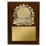 8 X 10 INCH ALLSTAR WALNUT PLAQUE HOLDS 2 INCH MEDALLION INSERT
