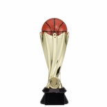 9 INCH PLASTIC SCULTURED BASKETBALL TROPHY