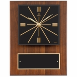 9 x 12 CLOCK PLAQUE IN GENUINE WALNUT
