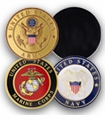 97 Series, 4 Inch Military Metal Magnetic Decal Discs