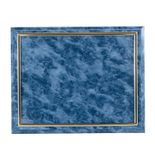 10-1/2 X 13 INCH BLUE PLAQUE HOLDS 8-1/2 X 11 CERTIFICATE, SILVER RAISED BORDER