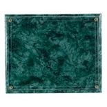 10-1/2 X 13 INCH GREEN MARBLEIZED PLAQUE HOLDS 8-1/2 X 11 INCH CERTIFICATE