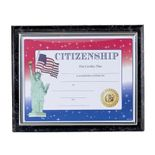 10-1/2 X 13 INCH BLACK PLAQUE HOLDS 8-1/2 X 11 CERTIFICATE, GOLD RAISED BORDER