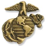 U.S.MARINES ANTIQUE BRASS PIN