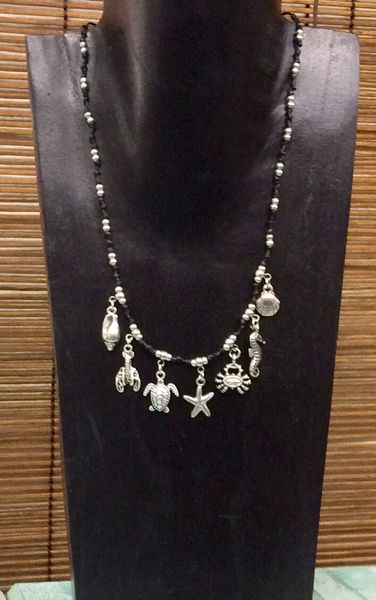 Alloy Sealife Charm Necklace