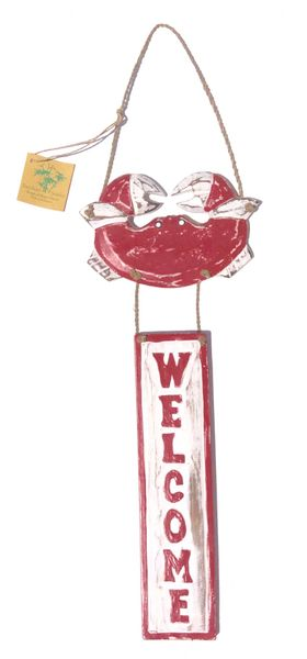 Crab Welcome Sign - Red
