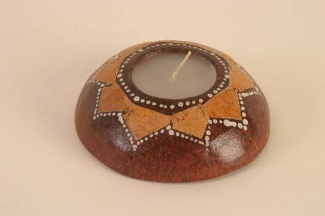 Flat Candle in Terracotta