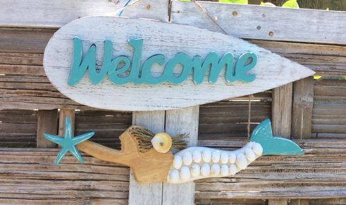 Mermaid Surf Welcome Sign