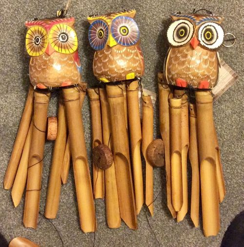 Owl Wind Chimes - Assorted