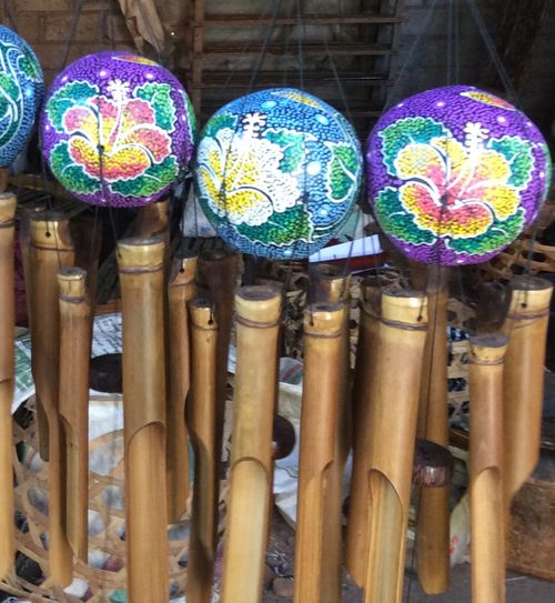 Painted Coconut Wind Chime