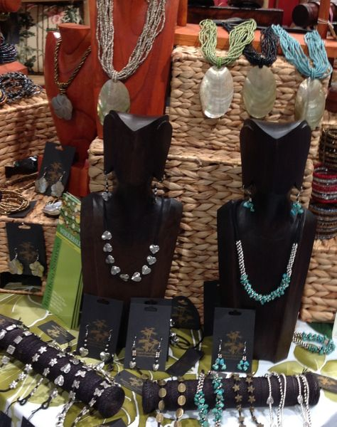 Tropical Shell and Bead Necklaces