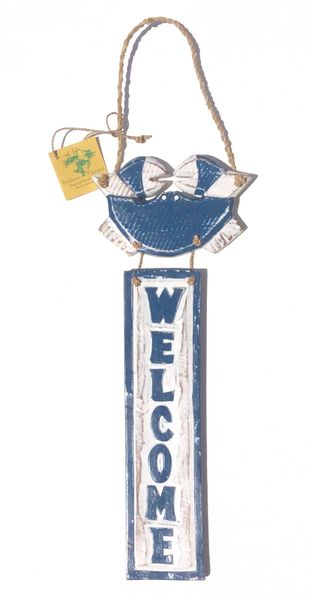 Crab Welcome Sign - Blue