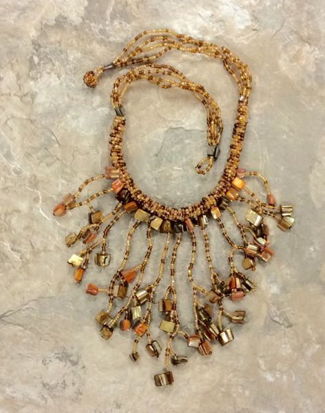 Waterfall Shell Necklace - Gold
