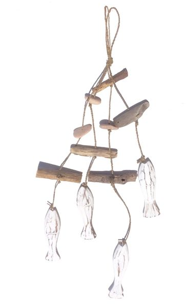 Wooden Four Fish Hanging