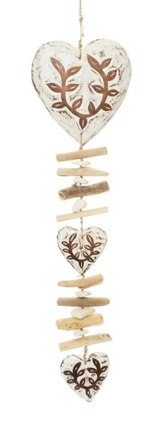 Wooden Heart Mobile - large